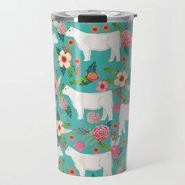 Charolais cattle farm must have gifts homesteader cow breeds florals Travel Mug