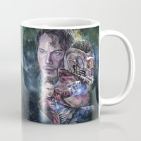 star lord Mugs featuring Star Lord - Galaxy Guardian by Nina Palumbo Illustration