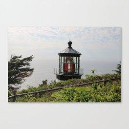The Red Beacon On Tillamock Bay Canvas Print
