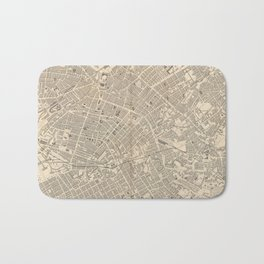 Vintage Map of Manchester England (1851) Bath Mat