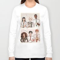 potter Long Sleeve T-shirts featuring Potter - Malfoy by CaptBexx