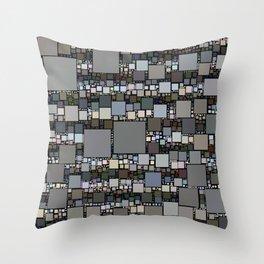 Retro Squared Pattern Throw Pillow