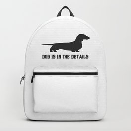 dog is in the details Backpack