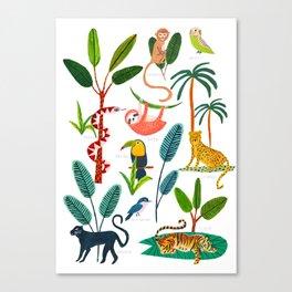 Jungle Creatures Canvas Print