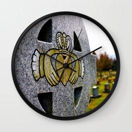 Graveyard Claddagh Wall Clock