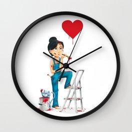 Wet paint Wall Clock