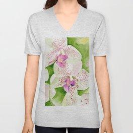 Fuschia Orchid Unisex V-Neck