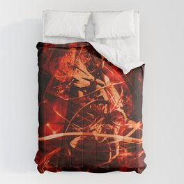 abstract red Comforters