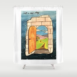 Tell a new story Shower Curtain