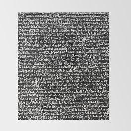 Rosetta Stone Throw Blanket