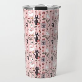 Jiji Cat Pattern Travel Mug