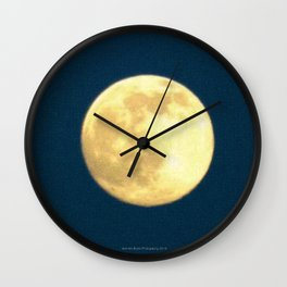 Hello Gandmother Moon by Jeronimo Rubio Photography 2016 (all over) Wall Clock