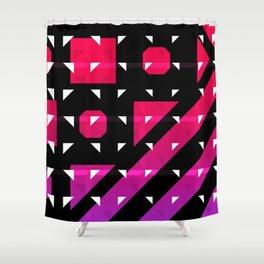 Geometric levitation Shower Curtain