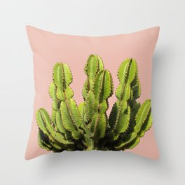 Cactus on Pink Throw Pillow