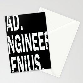 Dad Engineer dad Genius Stationery Cards