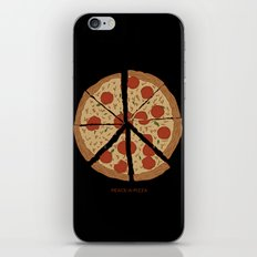PEACE-A-PIZZA iPhone & iPod Skin