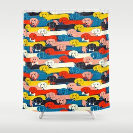 COLORED DOGS PATTERN 2 Shower Curtain
