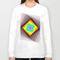 quilt Long Sleeve T-shirts featuring Digital Quilt by Take Five