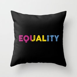 cool saying Pansexuality Pansexual LGBTQ LGBT design Throw Pillow