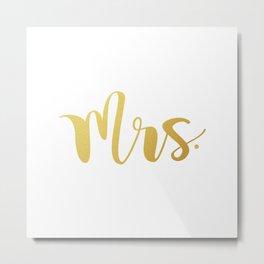 Mrs. Metal Print