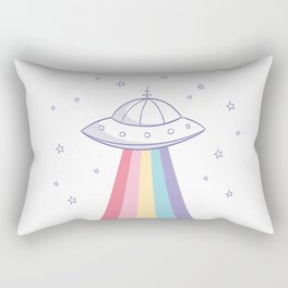 Colorful rainbow space ufo Rectangular Pillow