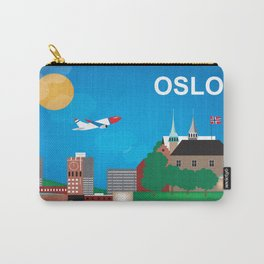 Oslo, Norway - Skyline Illustration by Loose Petals Carry-All Pouch