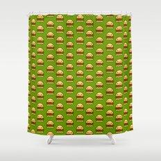 hamBOOger Jr Shower Curtain