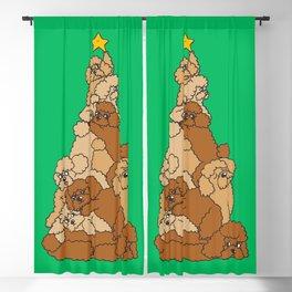 Christmas Tree Poodle Blackout Curtain