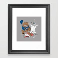 The Goat is Dead! (grey version) Framed Art Print