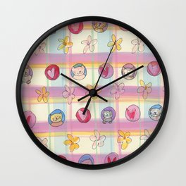 Kitty Cat Love Wall Clock