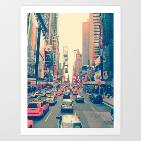 Times Square Traffic Art Print