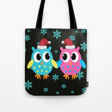 Xmas Owls in the Snow Tote Bag