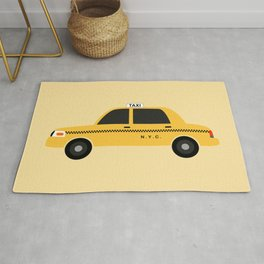 New York City, NYC Yellow Taxi Cab Rug