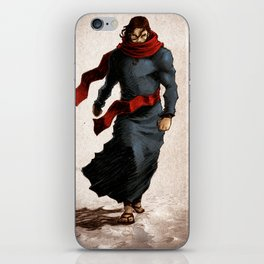Walking on water means he conquered death! (colored version) iPhone Skin