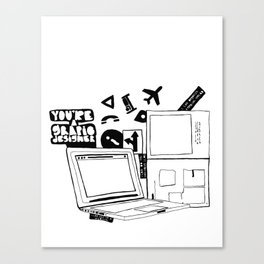 Yes, I'm a Graphic Designer Canvas Print
