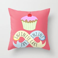 Infinite cake Throw Pillow