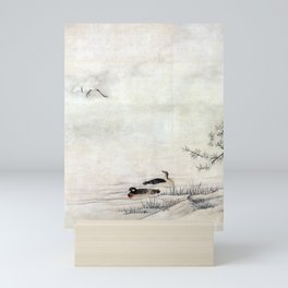 Kano Motonobu Flowers and Birds in a Spring Landscape Mini Art Print