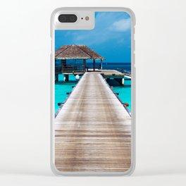 Dockside Retreat - Tropical Horizon Series Clear iPhone Case
