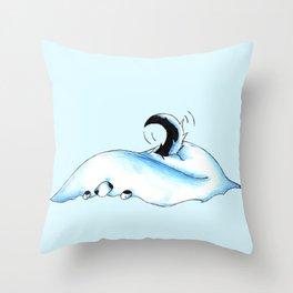 Snowbank Pup Throw Pillow