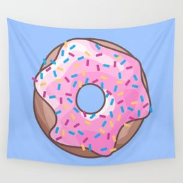 Pink Strawberry Donut Wall Tapestry