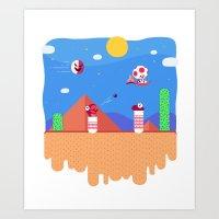 Tiny Worlds - Super Mario Bros. 2: Toad Art Print