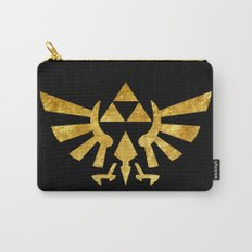 Zelda Golden Hylian Crest Carry-All Pouch