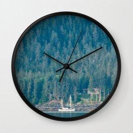 A Fisherman's Rest Wall Clock