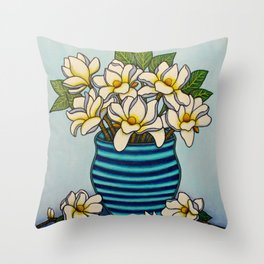 Magnolia Grandiflora, A Southern Charm Throw Pillow