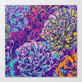 Very colorful abstract flowers Canvas Print