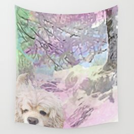 Snow Dog (for Philippa) Wall Tapestry