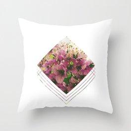 Subtly Flourishing - Square Throw Pillow
