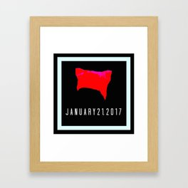 Pussyhat Project Design January 21, 2017 Framed Art Print