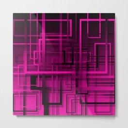 Black and purple abstract Metal Print