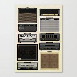 Classic Amps Canvas Print
